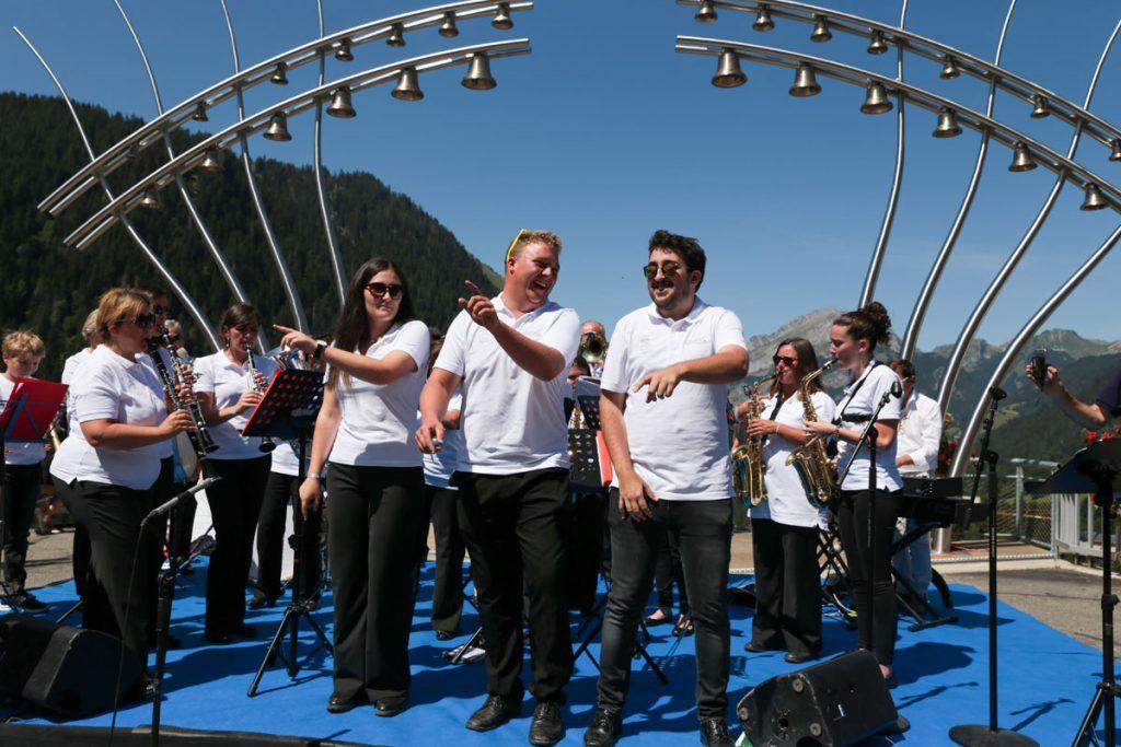 Ars Sonora - concert d'inauguration à Châtel avec l'harmonie municipale